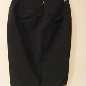 Bebe Midi Pencil Skirt Black Thick Slim Bodycon 6